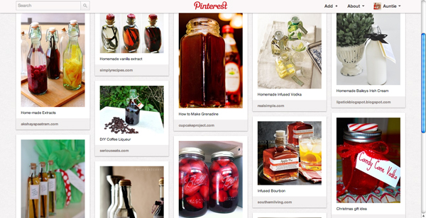Pinterest Extracts & Booze Board